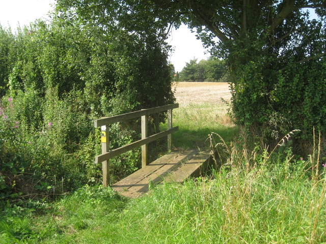 Footbridge over a drain