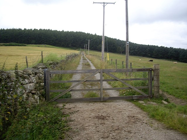 Access gate to Cockardie covered water reservoir