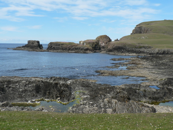 Southern coastline on Fair Isle