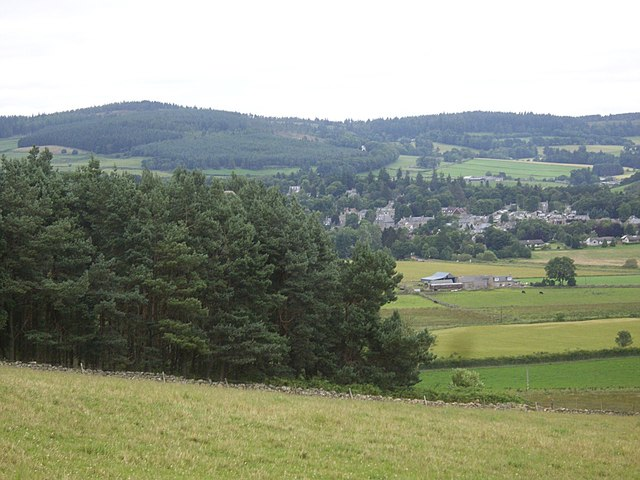 A view NE from near Cockardie Reservoir