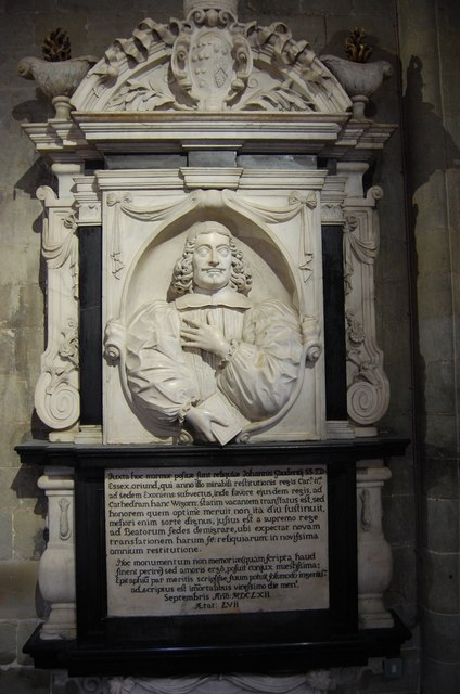 Memorial to Bishop John Gauden, Worcester Cathedral