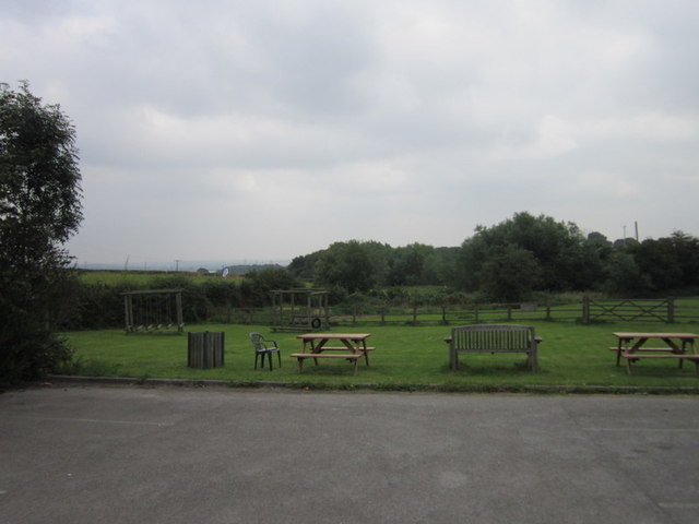 The beer garden at The Star Inn, Netherton