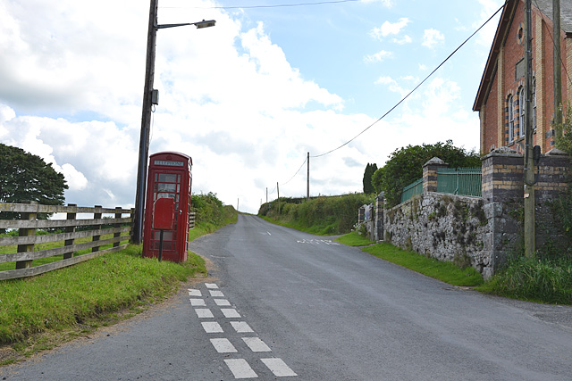 The B4518 at Nantgwyn