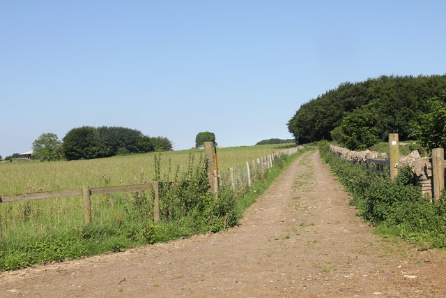 Track approaching Chedworth airfield