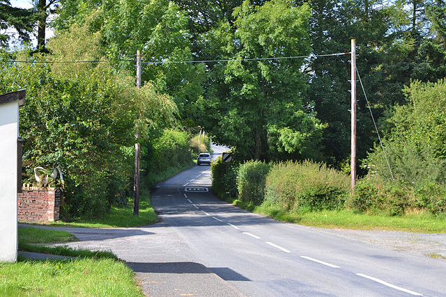 The B4518 leaving Pant-y-dwr