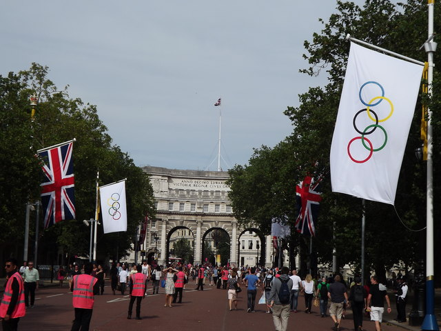 The Mall during the 2012 London Olympic Games