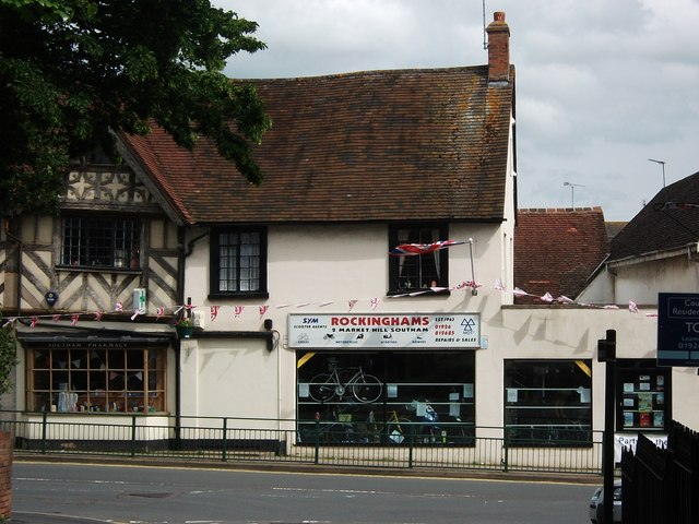 Rockinghams Cycle Shop, Market Hill, Southam