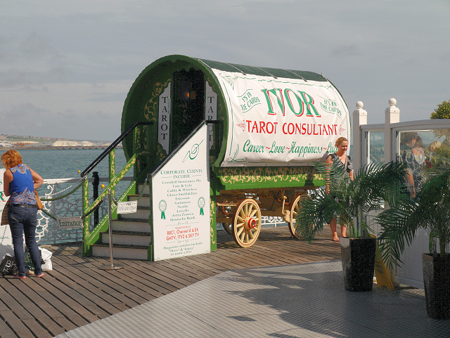 Tarot Caravan on Brighton Pier