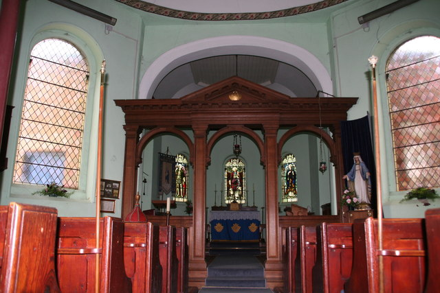 Moulton Chapel: inside the chapel