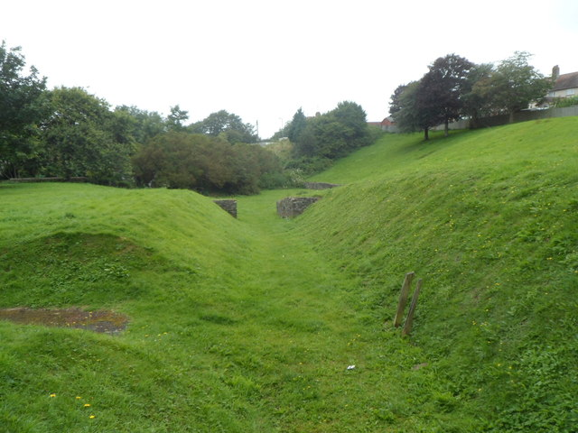 Remains of a Roman amphitheatre, Carmarthen
