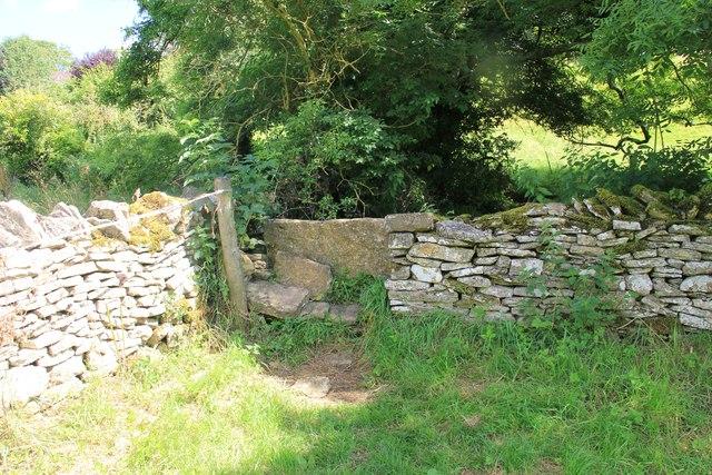 Stone stile, Chedworth