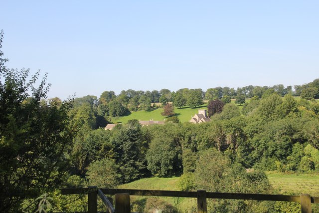 View over Chedworth from the north