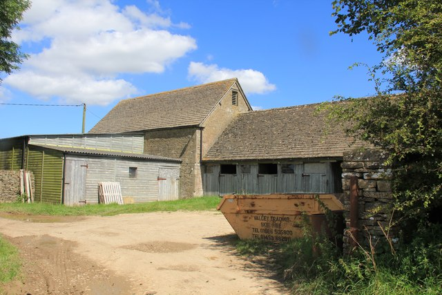 Farm buildings north of Chedworth