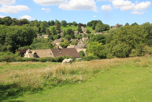 View over Chedworth from the east