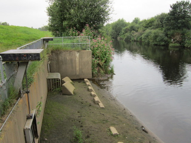 Sluice gates on the River Calder
