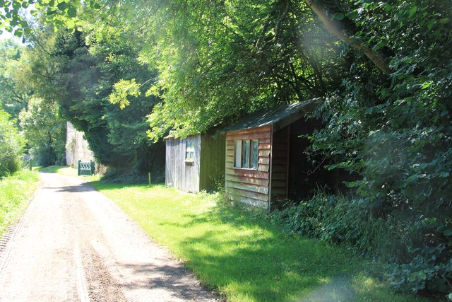 Sheds alongside the Monarch Way