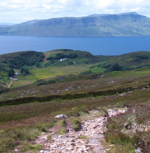 On the Dun Caan path