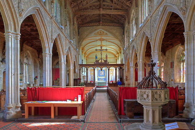 St Mary's church, Bruton - interior