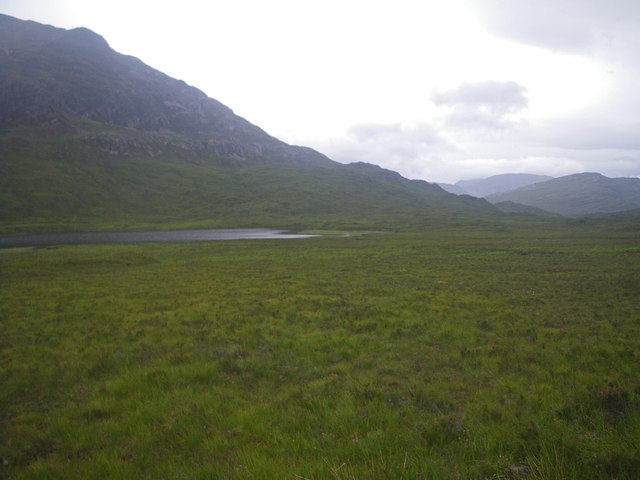 Scrubby meadow with Loch Bharranch beyond