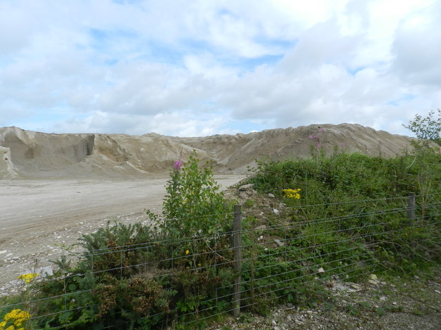 Large gravel pile