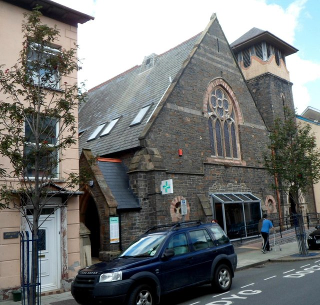 Surgery and pharmacy in a former Portland Street church, Aberystwyth
