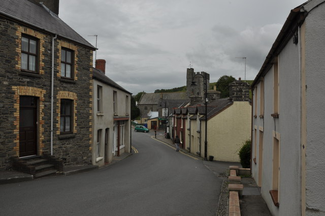 Down the Station Road (A485) in Tregaron