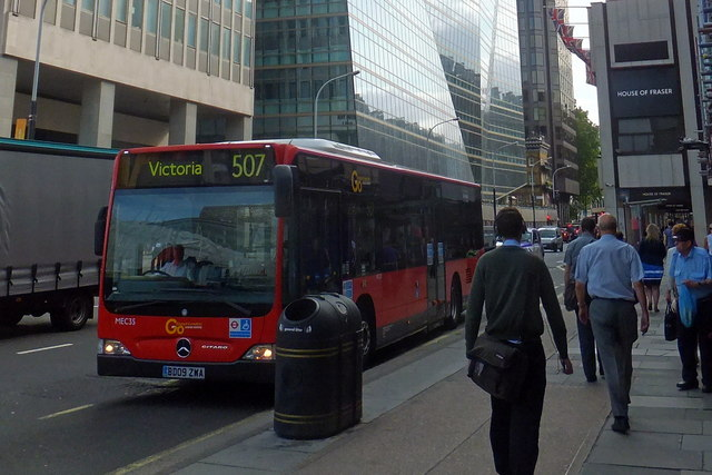 507 Bus in Victoria Street London