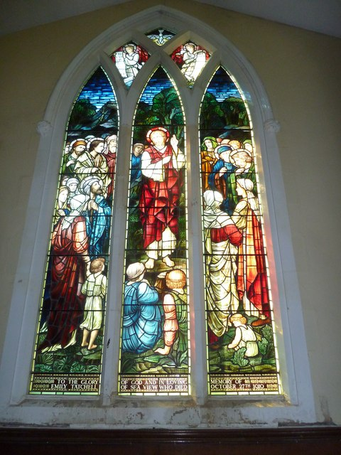 St Helen's (new) Church: stained glass window, a