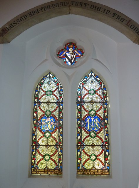 St Helen's (new) Church: stained glass window, b