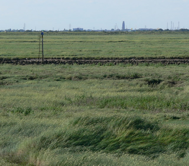 View across the salt marsh at Fosdyke Wash