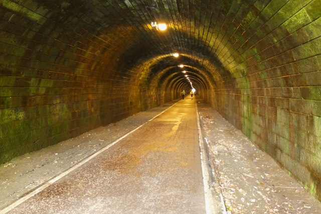 In the Innocent Railway tunnel, Holyrood Park