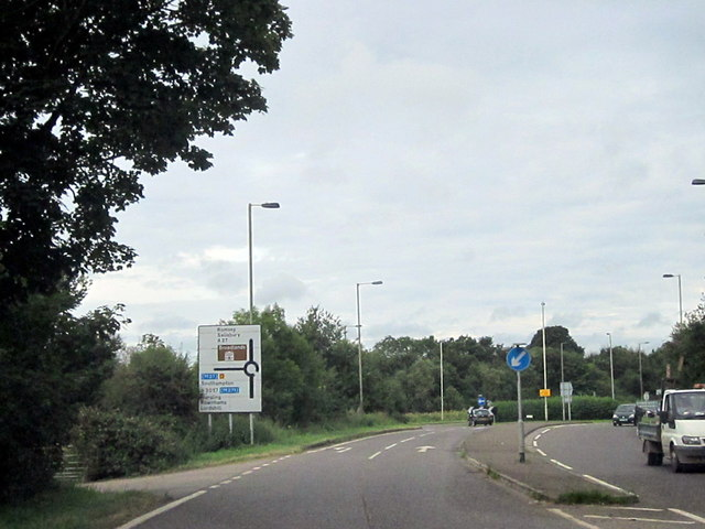 A27 and  A3057 Island Near Romsey