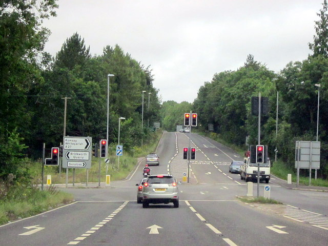 A27 Junction With A36 Near Whiteparish