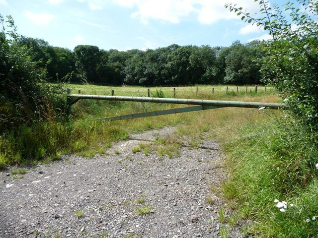 Gated track near Woodhead