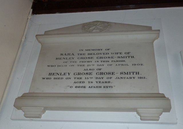 St Helen's (new) Church: memorial, 25