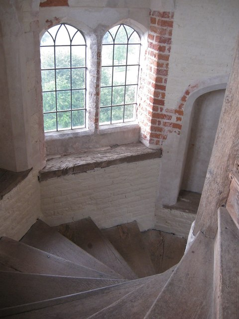 Spiral staircase at Layer Marney Tower