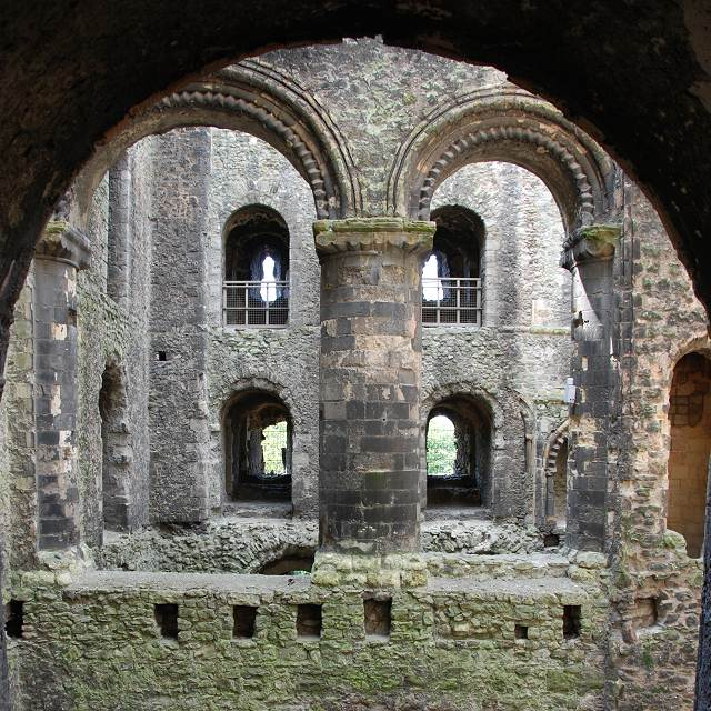 Internal view of Rochester Castle