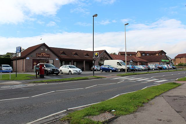 Group of shops on Burghmuir Drive