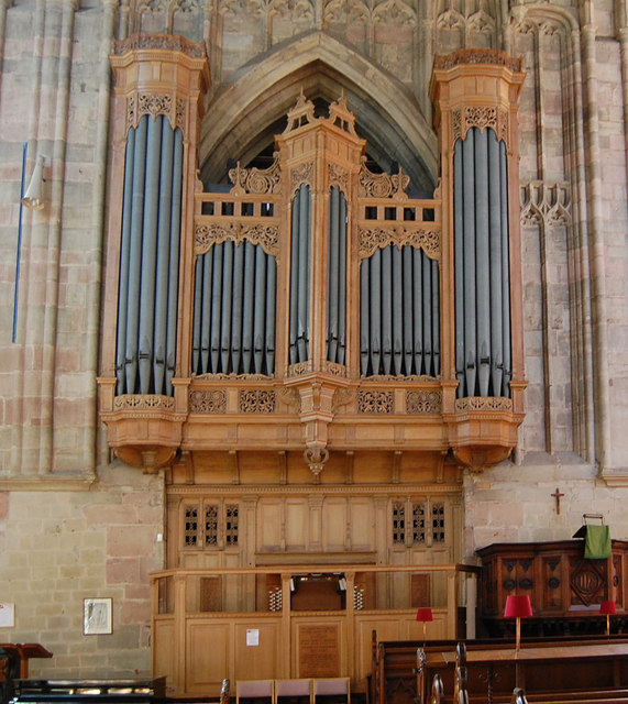 Organ in Great Malvern Priory