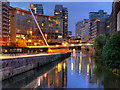 SJ8398 : River Irwell, Lowry Hotel and Trinity Bridge by David Dixon