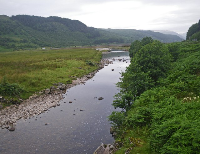 Looking downstream toward Loch Sunart