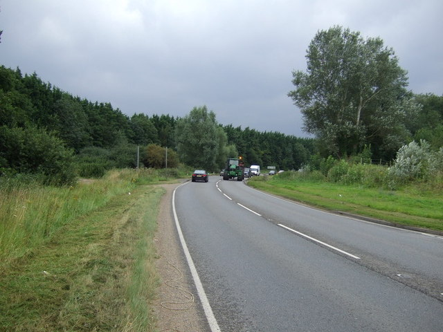 A1096 heading south towards the A14