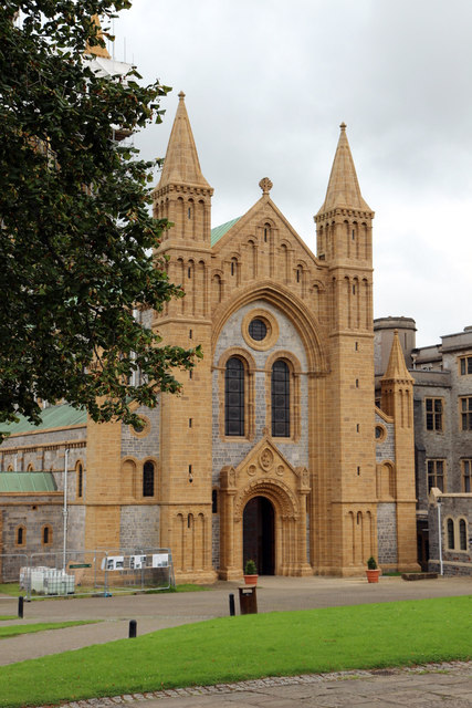 West front, Buckfast Abbey, Buckfastleigh, Devon