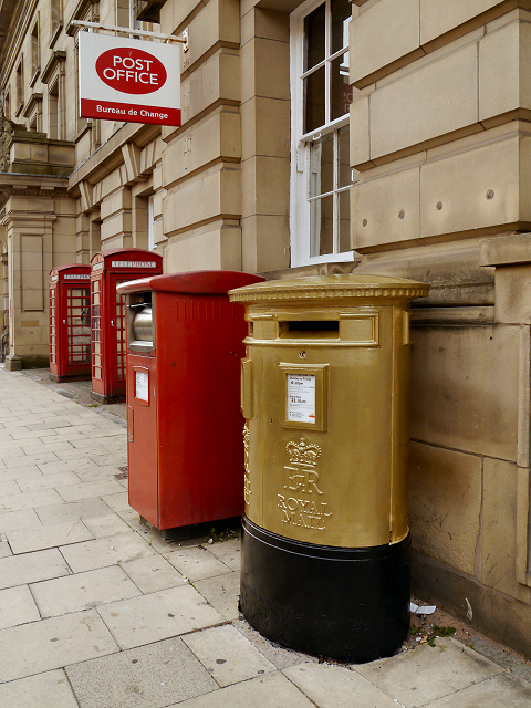 Gold Post Box (Jason Kenny), Bolton Deansgate