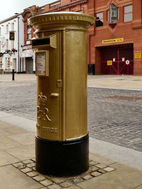 Jason Kenny's Gold Postbox on Churchgate