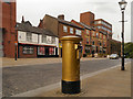 SD7109 : Gold Post Box, Churchgate by David Dixon