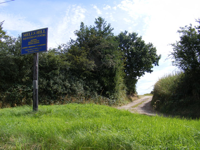 The entrance to Mells Hill Farm