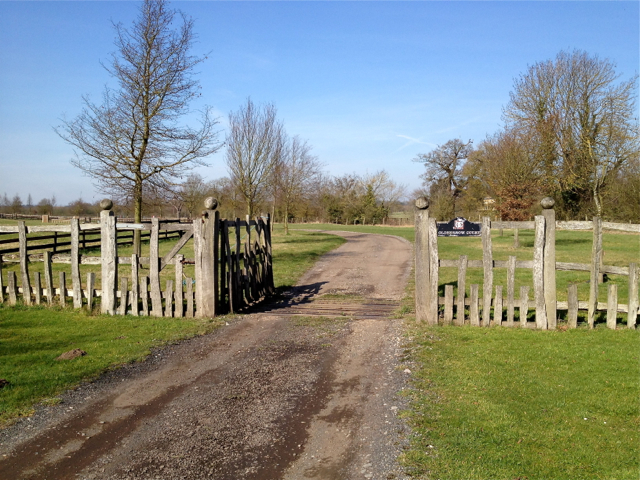 Fence and gates to Oldberrow Court