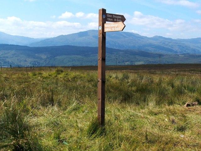 Three Lochs Way signpost