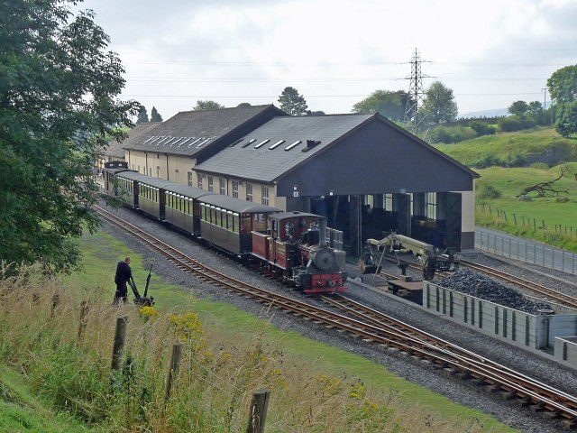 Start of the day at the Brecon Mountain Railway (4)
